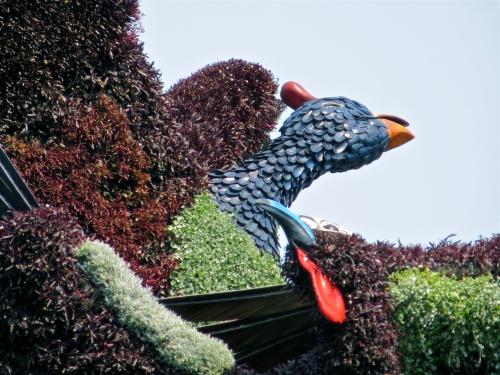 L'arbre aux oiseaux, Mosaïcultures, Montréal, photo, zoom