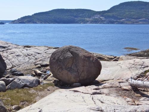 Tadoussac, pierre, grève