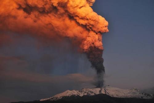 Etna, volcan, sicile, éruption, Italie, 2012