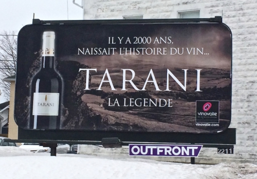 Tarani, Cabernet sauvignon, affiche Jonquière