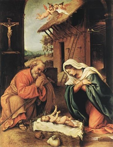 Nativité, Noël, aujourd'hui, Lorenzo lotto, médias