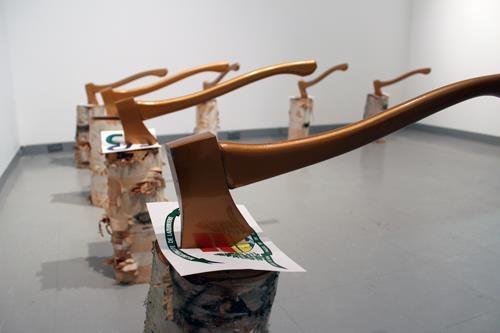 julie bernier,richard martel,artiste,galerie séquence,vitrine,performance