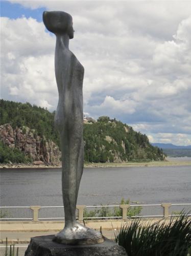 la fée des bois,chicoutimi,raoul hunter,sculpture