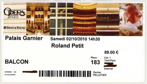 opéra de paris, Roland Petit, ballet, palais Garnier