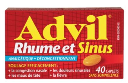 rhume,grippe,médicaments,pharmacie,ibuprophène,acétaminophène,pseudoéphédrine