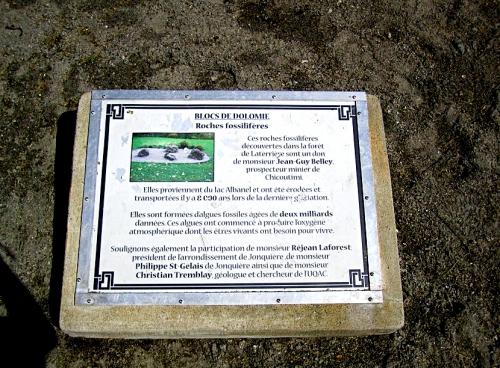 dolomie,stromatolite,laterrière,albanel,rivière-aux-sables,jean-guy belley