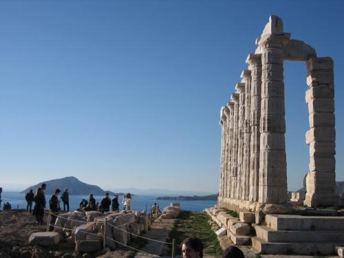 femme qui parle,cap osunion,athènes,temple de poseidon