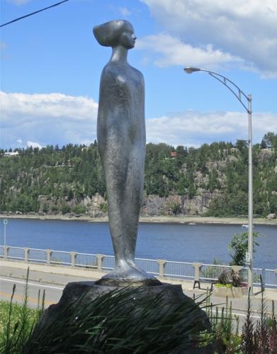 la fée des bois, Chicoutimi, Raoul Hunter, sculpture,