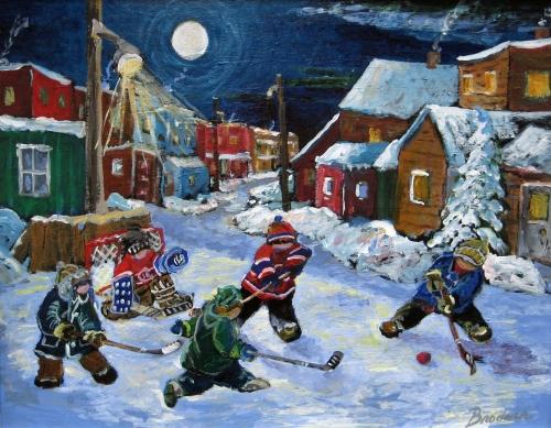 hockey de rue,arvida,maxwell,enfants,oeil au beurre noir,coquard