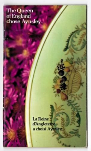 porcelaine, ainsley, Birks, argenterie