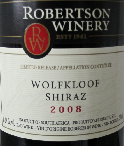 vin,syrah,shiraz,wolkloof,sauce tomates,françois chartier