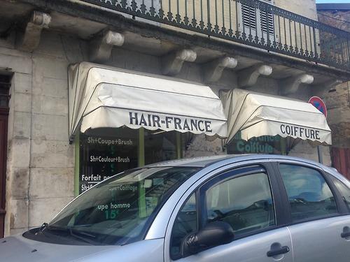 Coiffure, salons, jeux de mots, Topito