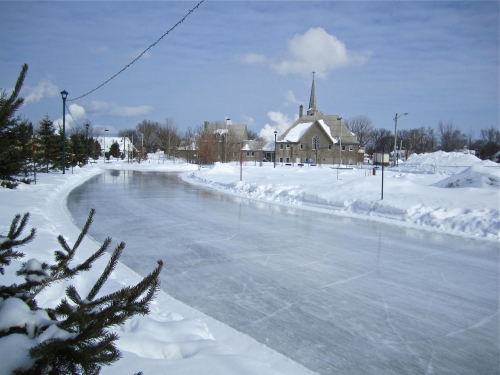 Arvida, hiver, église st-Jacques