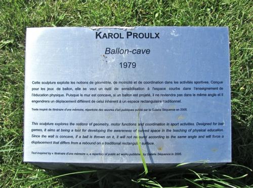 karol proulx,jonquière,ballon-cave,art public,terrain de sport