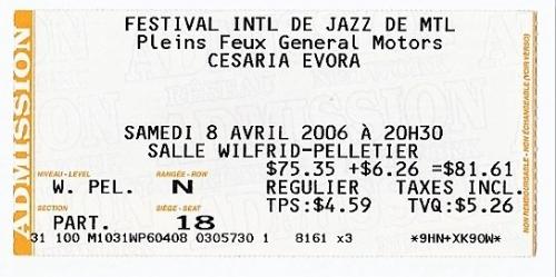 Cesaria Evora, musique, Montréal, spectacle
