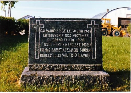 grand feu 1870,lac saint jean,osée fortin,chambord